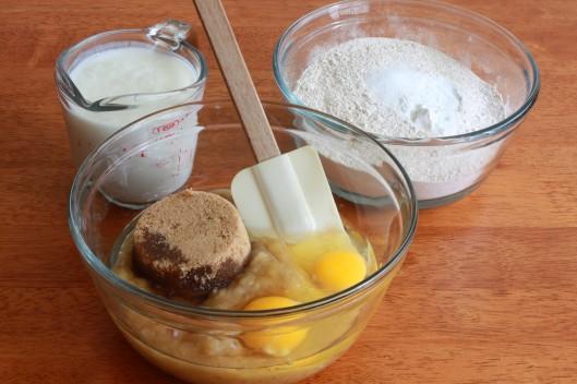 Banana Truffle Muffins prep 2