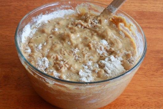 Banana Truffle Muffins prep 3