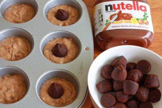 Banana Truffle Muffins prep 8