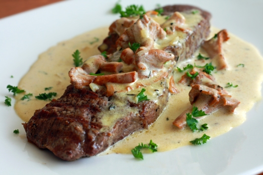 Steak With Chanterelle Cream Sauce copyright